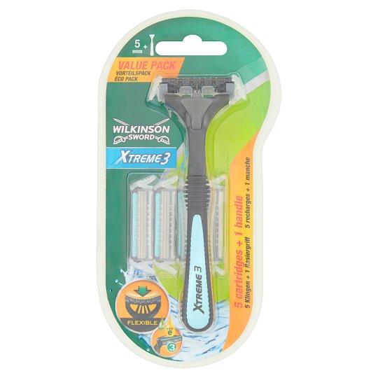 Wilkinson Sword Xtreme3 Razor with 3 Blades +5 Blade Refills