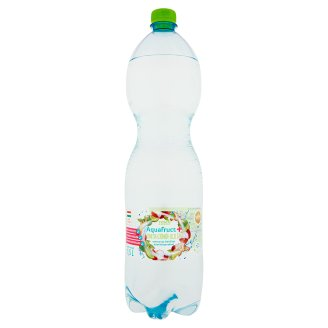 Tesco Aquafruct+ limetta-gyömbér-licsi ízű szénsavas üdítőital édesítőszerekkel 1,5 l