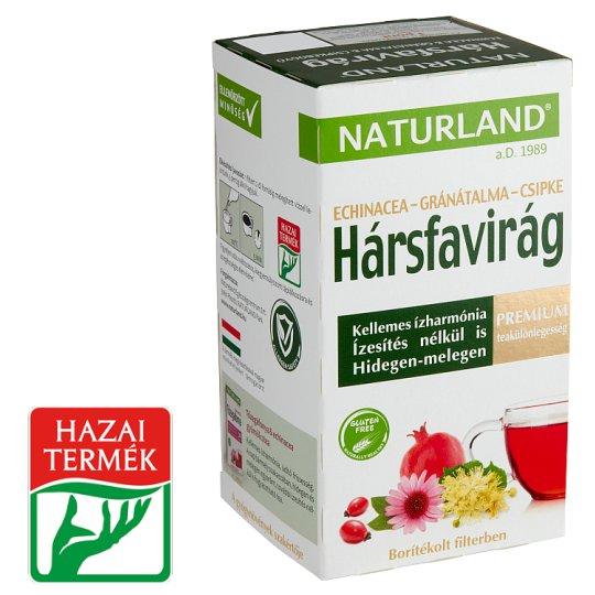 Naturland Premium hársfavirág & echinacea & gránátalma & csipkebogyó teakeverék 20 filter 24 g