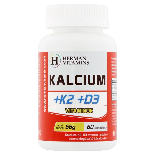 Herman Vitamins Calcium +K2 +D3 Vitamins Food Supplement 66 g 60 pcs