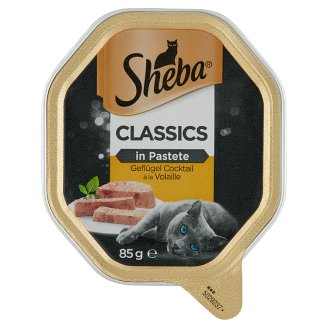 Sheba Classics in Pastete Poultry Selection Complete Pet Food for Adult Cats 85 g