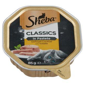 Sheba Classics in Pastete Szárnyas Válogatás teljes értékű állateledel felnőtt macskák számára 85 g