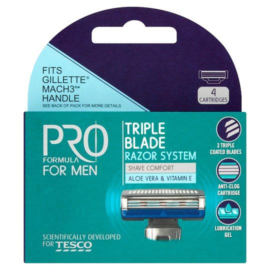 Tesco Pro Formula for Men Rightfit 3. Refill 4 pcs