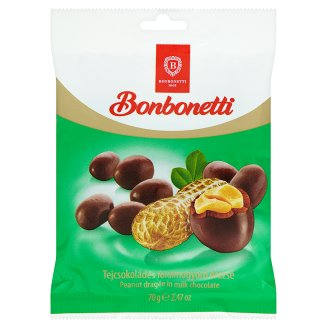 Bonbonetti Peanut Dragée in Milk Chocolate 70 g