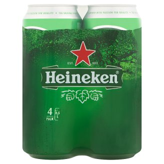 Heineken Quality Lager Beer 5% 4 x 0,5 l Can