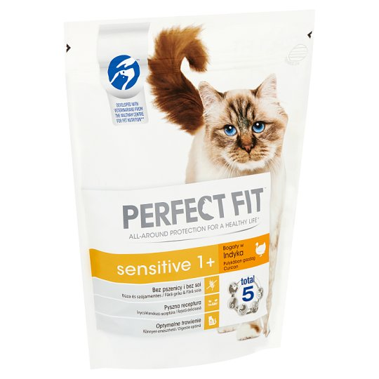 Perfect Fit Sensitive 1+ Complete Pet Food for Adult Cats Rich in Turkey 750 g