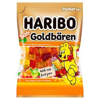 Haribo Goldbären Saft gyümölcsízű gumicukorka gyümölcslével 85 g