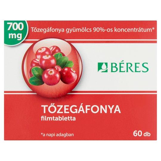 Béres Cranberry Tablets 60 pcs 46,5 g
