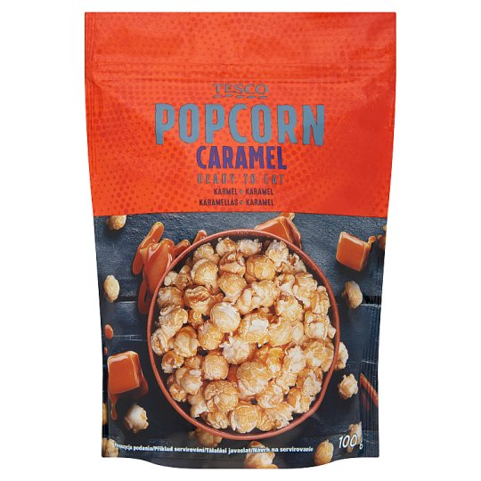 Tesco Ready to Eat Caramel Popcorn 100 g