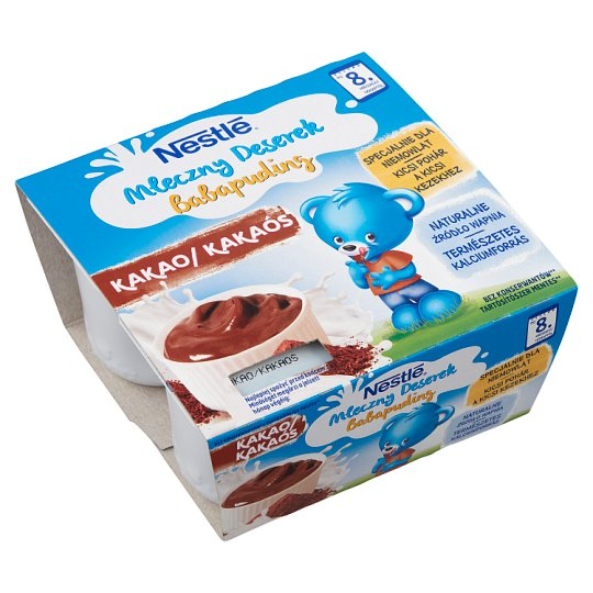 Nestlé Chocolate Flavoured Baby Pudding +8 Months 4 x 100 g