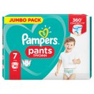 Pampers Pants Size 7, 40 Nappies, 17+kg, Absorbing Channels