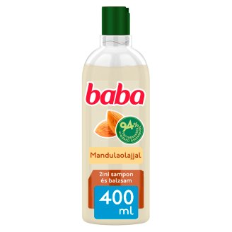 Baba 2in1 sampon és balzsam minden hajtípusra mandulaolajjal 400 ml