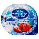 Tesco Greek Style Yogurt Strawberry Yogurt 140 g