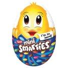 Smarties tejcsokoládé tojás, belsejében tejcsokoládé csirke, tejcsokoládés cukordrazséval 100 g