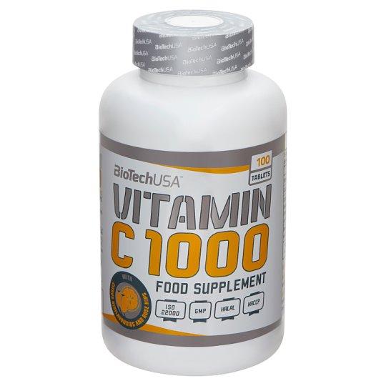 BioTechUSA Vitamin C 1000 étrend-kiegészítő tabletta 100 db 180 g