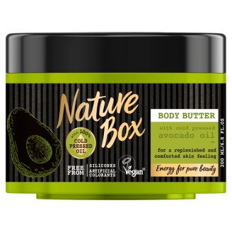 Nature Box Body Butter with Cold Pressed Avocado Oil 200 ml