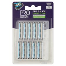 Tesco Pro Formula for Men Triple Blade Shaving System 10 pcs