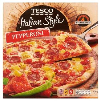 Tesco Italian Style Pepperoni gyorsfagyasztott, elősütött pizzalap 320 g