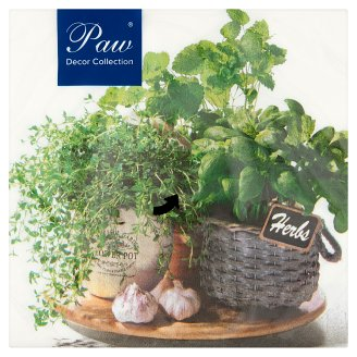 Paw Decor Collection Herbs Paper Napkins 3 Ply 33 x 33 cm 20 pcs