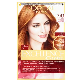 L'Oréal Paris Excellence Creme 7.43 Red Penny Permanent Hair Colorant