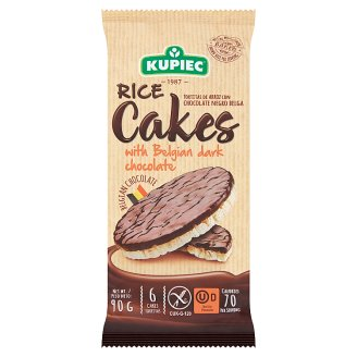 Kupiec Gluten-Free Puffed Rice Cakes with Dark Chocolate 90 g
