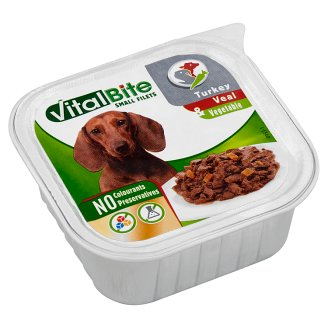 VitalBite Complete Pet Food for Adult Dogs with Turkey, Veal & Vegetable 150 g