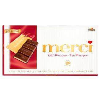 Merci Dark Chocolate Bar Filled with Marzipan 112 g