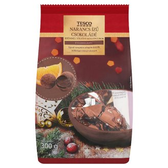 Tesco Dark Chocolate Christmas Candy Filled with Orange Flavoured Chocolate Cream 300 g
