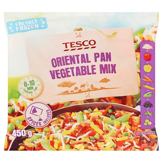 Tesco Quick-Frozen Oriental Pan Vegetable Mix 450 g