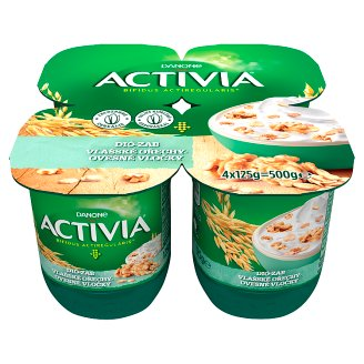 Danone Activia Yoghurt with Oat Flakes, Walnut and Live Cultures 4 x 125 g