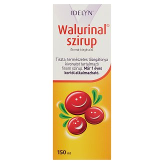 Idelyn Walurinal Syrup Food Supplement with Cranberry Extract 1+ Years 150 ml