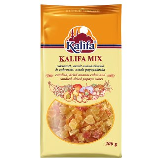 Kalifa Candied Pineapple and Papaya Cubes 200 g