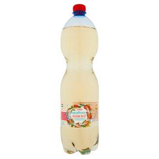 Tesco Aquafruct+ bazsalikom-eper ízű szénsavas üdítőital édesítőszerekkel 1,5 l