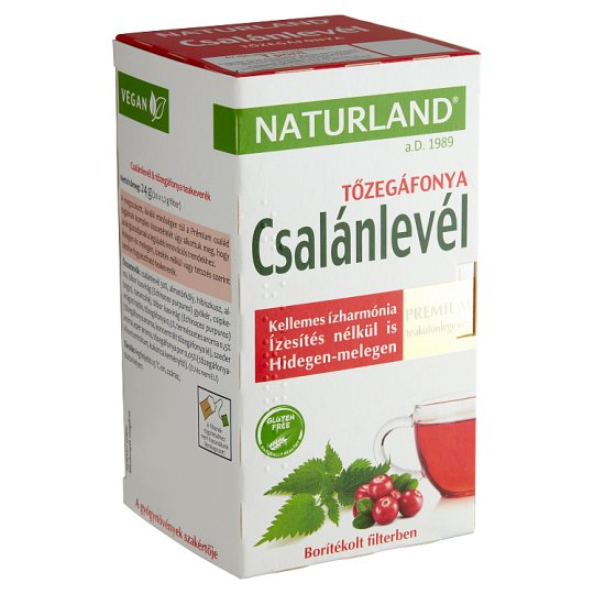 Naturland Premium Nettle Leaf & Cranberry Tea Blend 20 Tea Bags 24 g