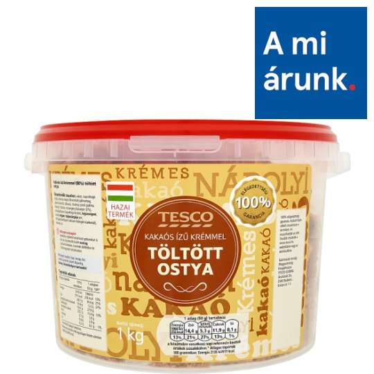 Tesco Wafers with Cocoa Flavoured Cream Filling 1 kg