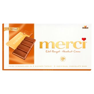 Merci Dark Chocolate Bar Filled with Hazelnut Cream 112 g