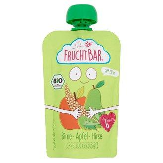 FruchtBar BIO bébidesszert körte almával és kölessel 6 hónapos kortól 100 g