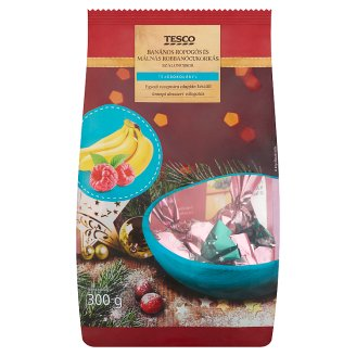 Tesco Christmas Candy Selection Filled with Crunchy Banana and Raspberry Popping Candy Creams 300 g