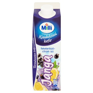 Milli Janga Blackcurrant-Lemon Flavoured Kaukázusi Kefir Cultured Milk Product 450 g