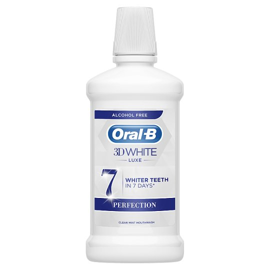 Oral-B 3D White Luxe Perfection Alkoholmentes Szájvíz, 500 ml