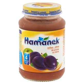 Hamánek Plum-Apple Dessert for Babies 4+ Months 190 g