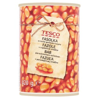Tesco White Beans in Tomato Sauce 420 g