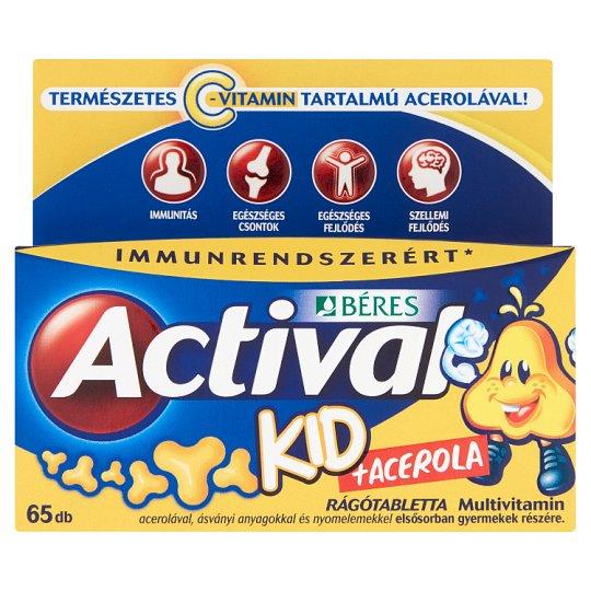 Béres Actival Kid + Acerola Tablets 65 pcs 58,5 g