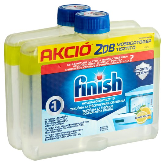 Finish Dishwasher Cleaner with Lemon Scent 2 x 250 ml
