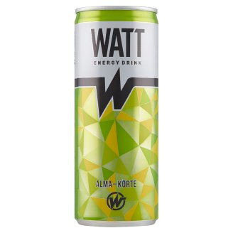 Watt Apple-Pear Flavoured Carbonated Energy Drink with Caffeine and Vitamins 0,25 l