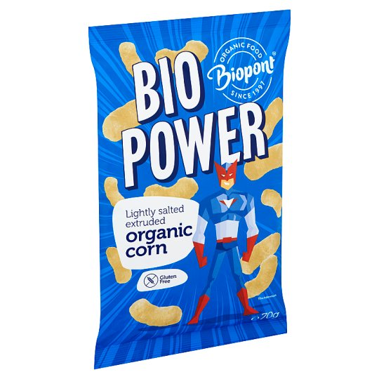 Biopont Bio Power Organic Gluten-Free Lightly Salted Extruded Corn 70 g