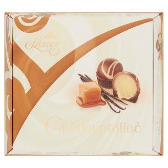Szamos Gyöngypraliné vaníliás karamellkrémmel töltött tejcsokoládé golyó 9 db 125 g