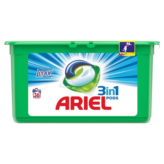 Ariel 3in1 Pods Touch Of Lenor Fresh Washing Capsules 36 Washes