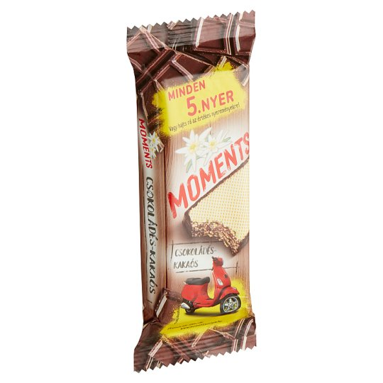 Moments Cocoa Coated Crispy Wafers with Cocoa-Chocolate Cream Filling 50 g