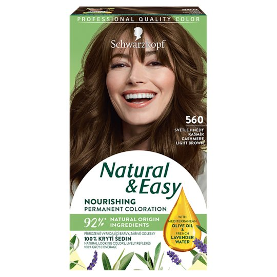 Schwarzkopf Natural & Easy 560 Cashmere Light Brown Permanent Hair Colorant